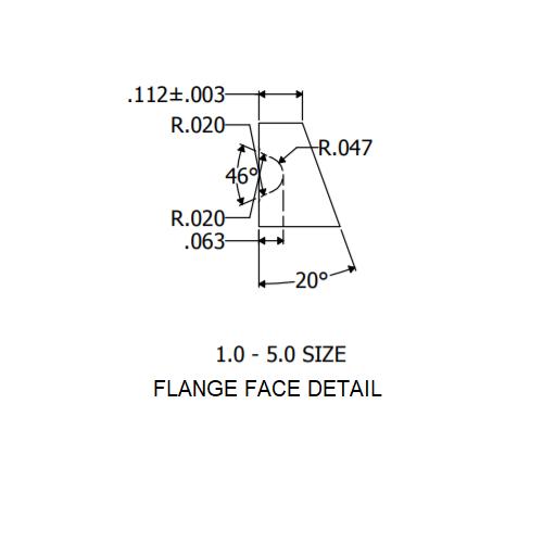 """1"""" Flange Face Detail"""