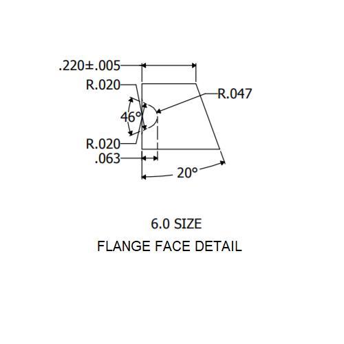 """6"""" Flange Face Detail"""