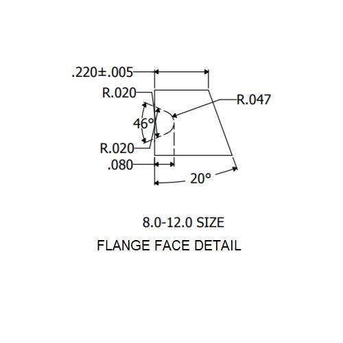 """8"""" Flange Face Detail"""