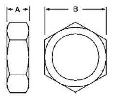 Bevel Seat Nut Dimensions