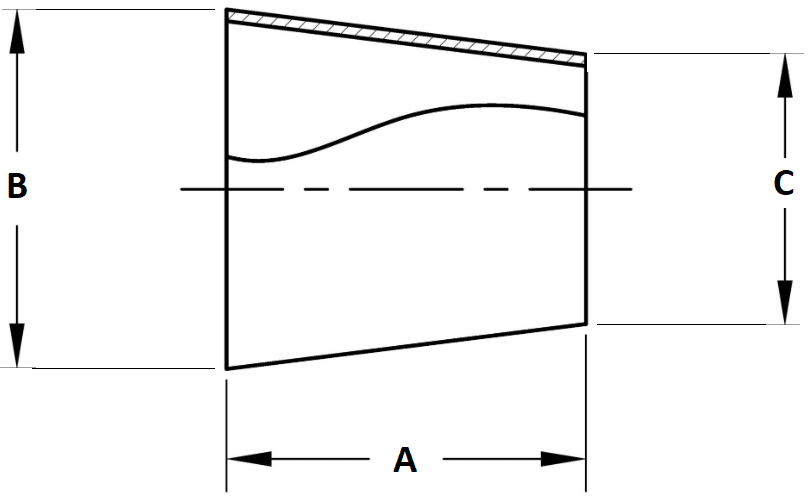 Butt-Weld Concentric Reducer Dimensions