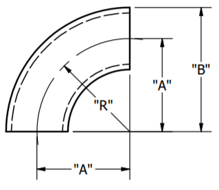 Butt-Weld Elbow Dimensions