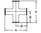 Sanitary Clamp Cross Dimensions