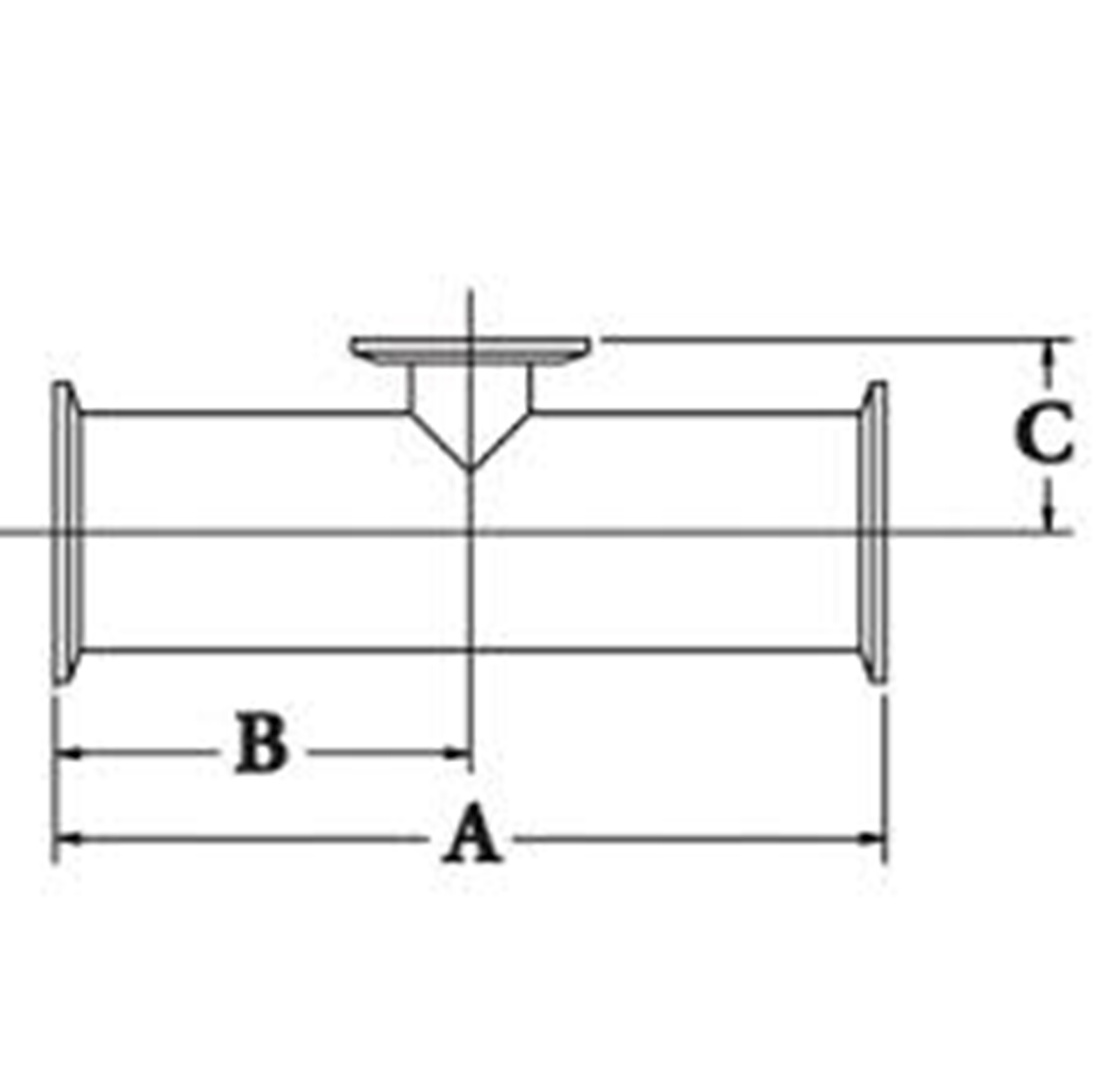 Sanitary Clamp Short Reducing Tee Dimensions