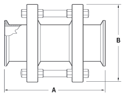 Clamp Sight Glass Dimensions