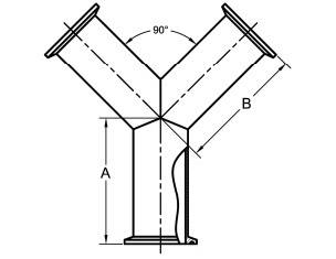 Clamp True Wye Dimensions