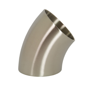 Polished Short 45 Degree Elbow