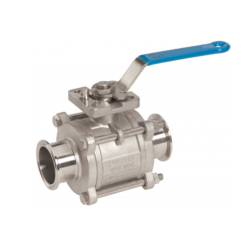 Three Piece Encapsulated Clamp Ball Valve