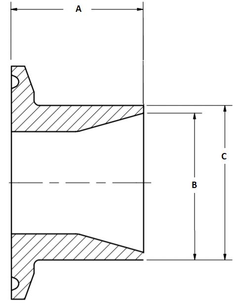 Tri-Clamp x Schedule 5 Adapter