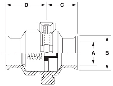 Clamp Check Valve Dimensions