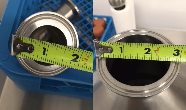 Sanitary Reducer Size