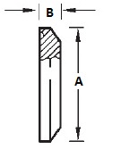 BPE Solid Clamp End Cap Dimensions