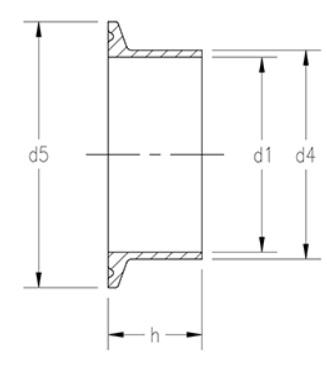 Buy DIN Long Weld Tri-Clamp Ferrules Metric | European Din Fittings |  Sanitary Fittings