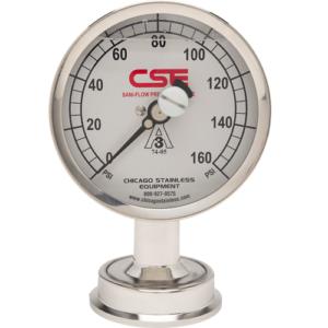 CSE Sanitary Pressure Gauge
