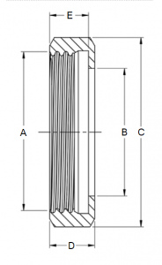 DIN 11851 Nut Dimensions