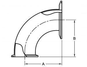 Tri-Clamp Reducing Elbow