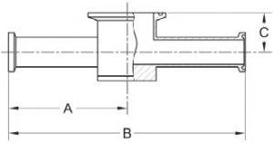 Tri-Clamp Instrument Tee