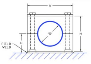 Plate Weld Hanger Dimensions