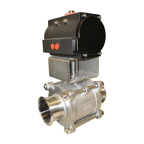 Tri-Clamp Actuated Ball Valve